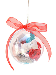ornament with 10 hair ties