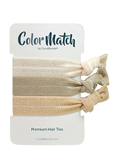 cream hair ties