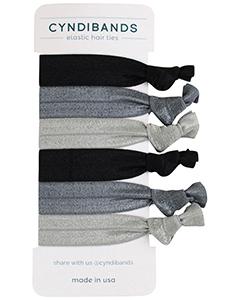 grey black hair ties