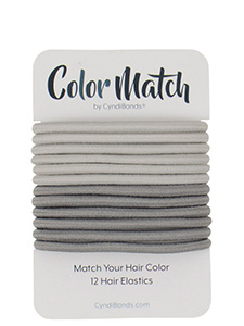 color match hair ties for gray hair
