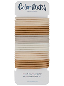 BlondeColor Match No-metal Hair Elastics