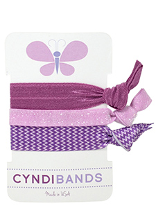 butterfly hair ties 3 pack