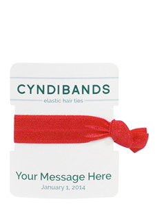 Green Custom TextPersonalized Packs Hair Ties