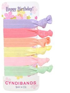 pastel happy birthday gift hair ties