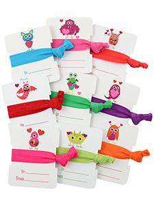 valentine's day cards hair ties monsters