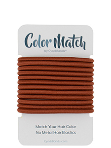 color match hair elastics for redheads