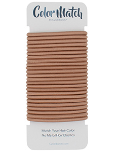 Rose GoldColor Match No-metal 4mm Hair Ties