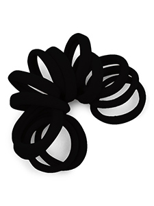 BlackGentle Hold Seamless Fabric Hair Ties