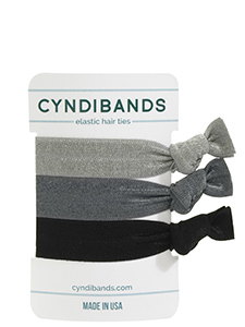 grey black hair ties 3 pack