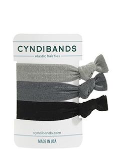 grey black hair ties 3 pack