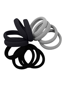 strong hold seamless fabric hair ties