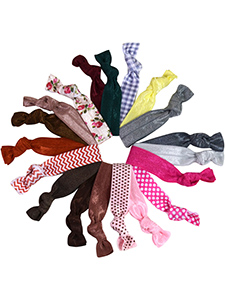 knotted hair ties mega set with 19